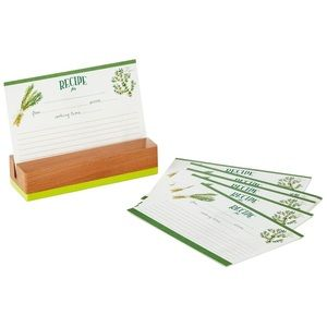 Hallmark Herbs & Spices Recipe Cards and Stand
